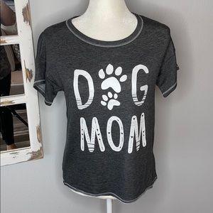 Gray Dog Mom Top